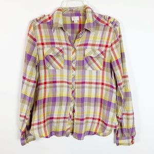 Anthropologie Postmark Long Sleeve Button Up